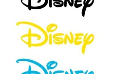 Colorful Disney Logos Vector