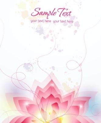 Pink Lotus Flower Background Vector