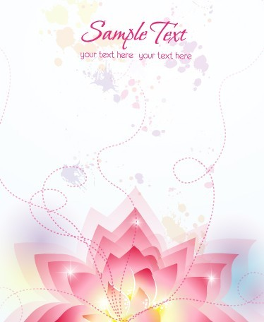 Pink Lotus Flower Background Vector