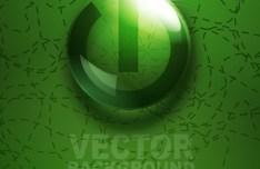 ECO Concept Green Water Drop Background Vector 03