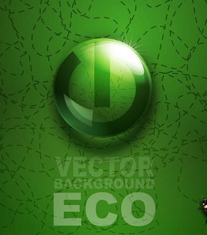 ECO Concept Green Water Drop Background Vector 03