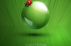 ECO Concept Green Water Drop Background Vector 04