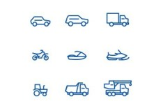 Minimal Transport Icons Vector