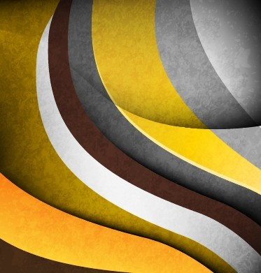Vintage Style Colored Curves Background Vector