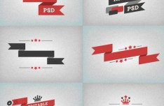 Vintage Style Creative Ribbon Designs PSD