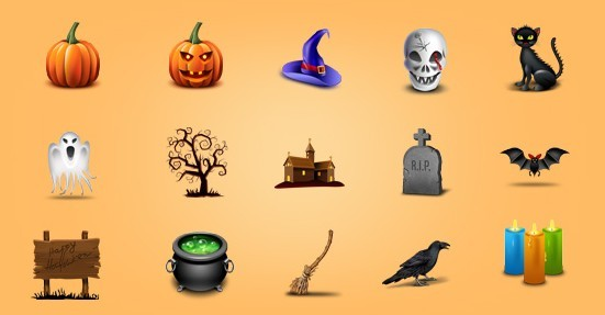 Lovely Halloween Icon Set