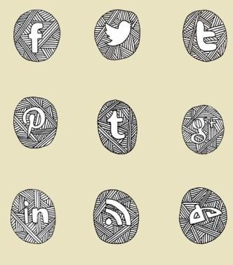Sketch Social Media Icon Set PSD