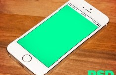 Realistic iPhone 5S Template PSD