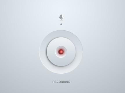 Recording Button PSD