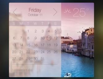 Stylish Weather Widget PSD