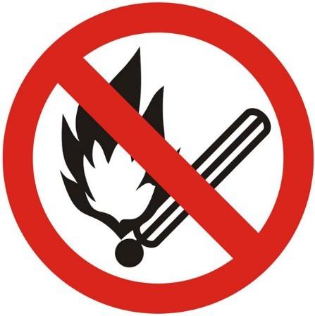 Vector No Fire Sign
