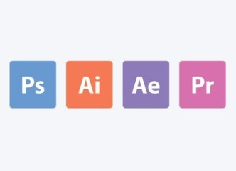4 Flat Adobe App Icons