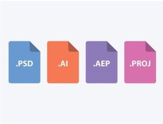 Flat Adobe File Type Icons PSD