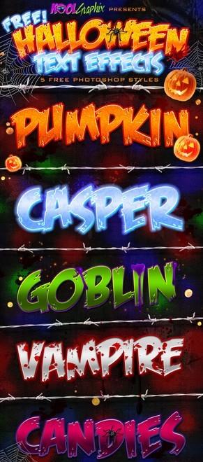Halloween Text Styles PSD
