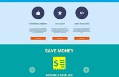Flat Website Design PSD
