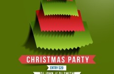 Creative Christmas Party Club Poster Flyer Template Vector 03