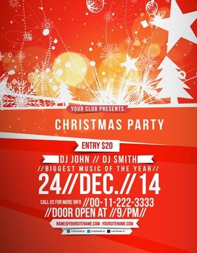 Free Dark Christmas Poster Template Psd - Titanui