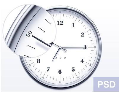 Elegant Watch Icon PSD