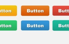Set Of Rounded Gradient Button Template PSD