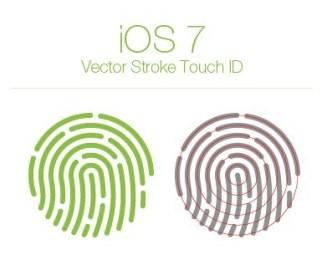 iOS 7 Vector Stroke Touch ID