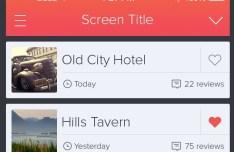Clean iPhone UI Template PSD