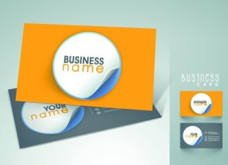 Elegant & Colorful Business Card Templates Vector 04
