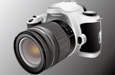 Realistic SLR Camera Vector