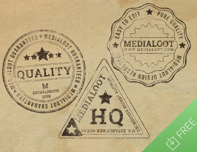 6 Rubber Stamp Designs PSD