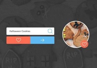 Halloween Cookies Form Elements PSD