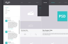 Portfolio Archive Website Template PSD