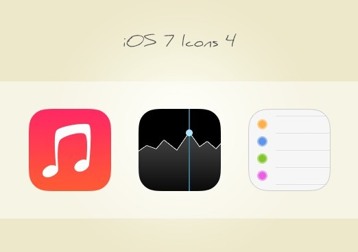3 iOS 7 App Icons PSD