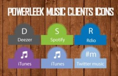 PowerLeek's Music Clients Icons