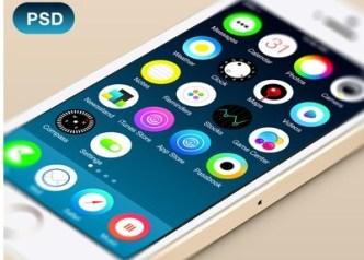 Clean Circle Style iOS 7 Concept PSD