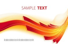 Abstract Orange Waves Background Vector
