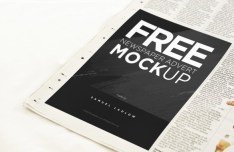 Newspaper Advert Mockup PSD
