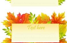Autumn Yellow Maple Leaf Design Vector 04
