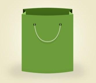 Green Shopping Bag PSD