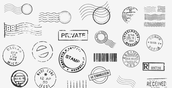 Set Of Vector Postage Stamps