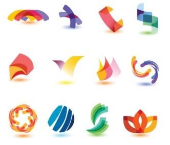 Colorful Abstract Symbol (Logo) Designs Vector