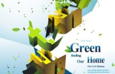 Green Environmental Protection Poster Background Vector