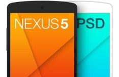Black and White Nexus 5 PSD Template