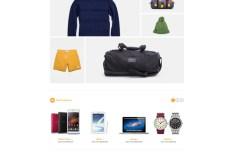 Qstore E-commerce Website PSD Template