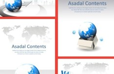 Set Of Blue Earth Concept Business Backgrounds Vector