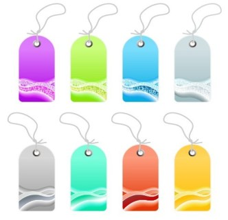 Set Of Creative Price Tags Vector 05