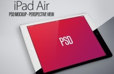 iPad Air Perspective View Mockup PSD