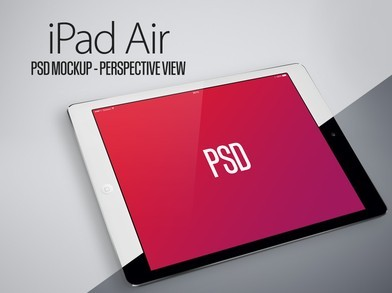 iPad Air Perspective View Mockup PSD