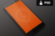 Dark Nexus 5 Mockup PSD