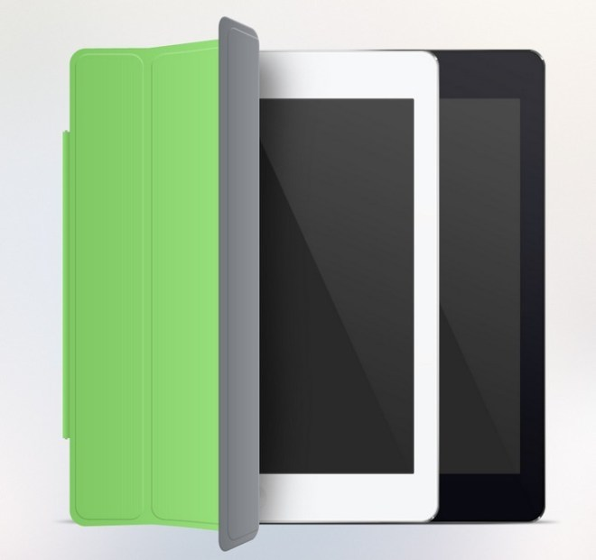 Flat iPad Air Mockup PSD