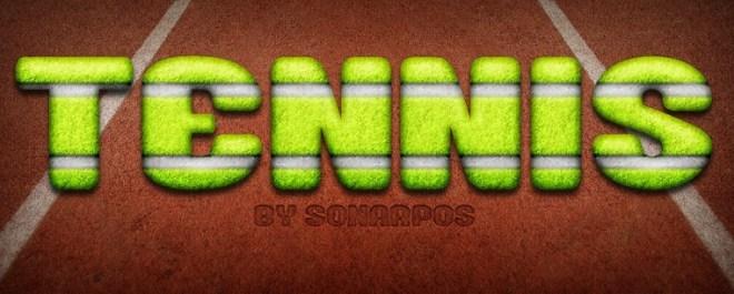 Green Tennis Text Style PSD
