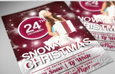 Snowy Christmas PSD Flyer Template